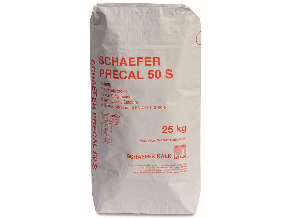 Schaefer Precal 50 S 25 Kg Sa Weisskalkhydrat Putzkalk Zement