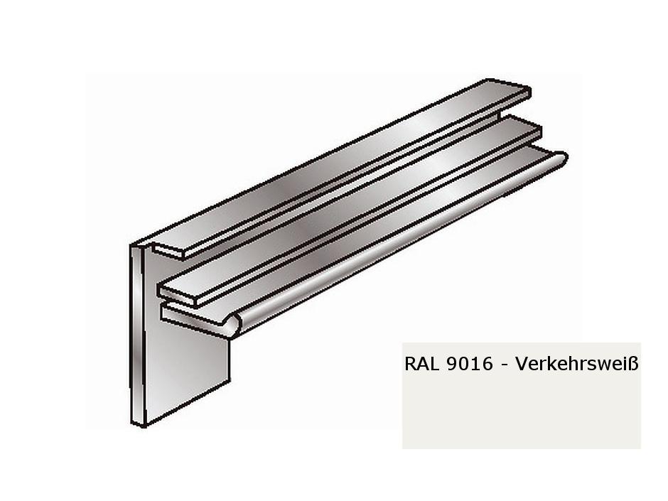 Alu-Fensterbänke Putzleisten weiß 225 mm RAL 9016, Kante 18 mm   Alu ...