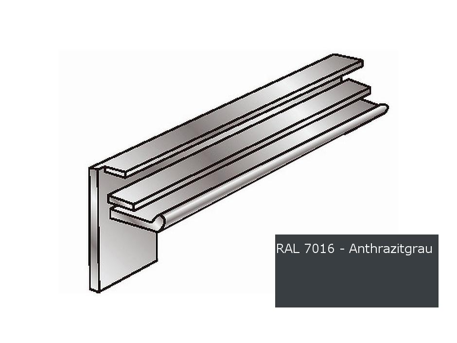 Alu-Fensterbänke Putzleisten 225 mm anthrazitgrau RAL 7016, Kante 18 ...