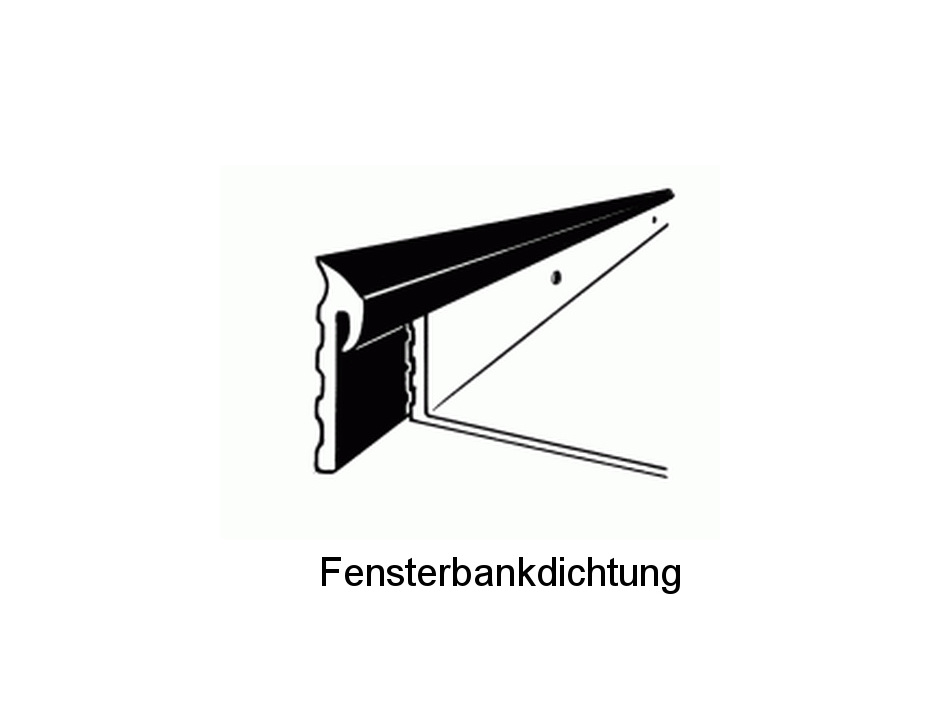 Fensterbankdichtung schwarz R631 für Alu-Fensterbänke | Alu ...