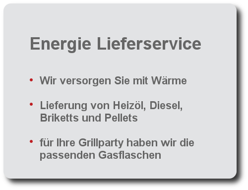 Energie Lieferservice